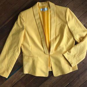 Tahari Yellow Career Blazer Size 16